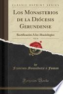 libro Los Monasterios De La Diócesis Gerundense, Vol. 14