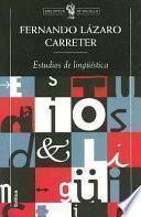libro Estudios De Lingüística