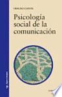libro Psicología Social De La Comunicación