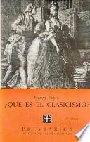 libro !qué Es El Clasicismo?