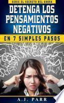 libro Detenga Los Pensamientos Negativos En 7 Simples Pasos