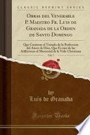 libro Obras Del Venerable P. Maestro Fr. Luis De Granada De La Orden De Santo Domingo, Vol. 7