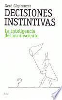 libro Decisiones Instintivas
