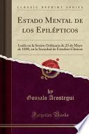 libro Estado Mental De Los Epilépticos