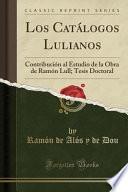 libro Los Catálogos Lulianos