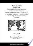 libro Almanaque Para 1566 De Nostradamus
