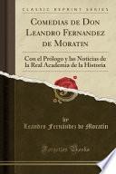 libro Comedias De Don Leandro Fernandez De Moratin