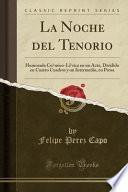 libro La Noche Del Tenorio