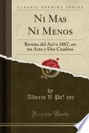 libro Ni Más Ni Menos