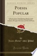 libro Poesía Popular
