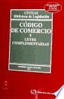 libro Código De Comercio Y Leyes Complementarias