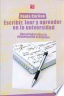 libro Escribir, Leer Y Aprender En La Universidad
