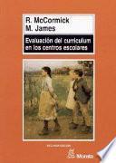 libro Evaluación Del Curriculum En Los Centros Escolares