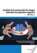 libro Mf1792_2   Gestión De La Prevención De Riesgos Laborales En Pequeños Negocios
