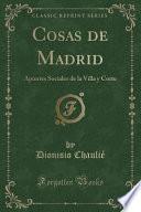 libro Cosas De Madrid
