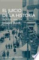 libro El Juicio De La Historia. Escritos 1920 1939