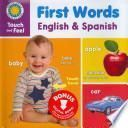 libro First Words: English And Spanish