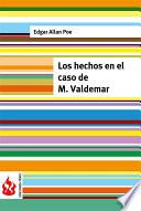 libro Los Hechos En El Caso De M. Valdemar (low Cost). Edición Limitada