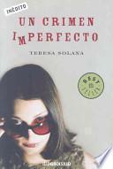 libro Un Crimen Imperfecto