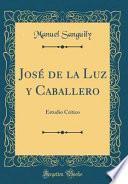 libro José De La Luz Y Caballero