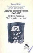 libro Asturias Contemporánea, 1808 1975