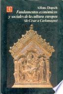 libro Fundamentos Economicos Y Sociales De La Cultura Europea