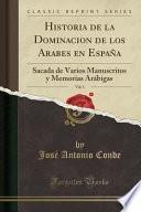 libro Historia De La Dominacion De Los Arabes En España, Vol. 1