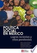 libro Política Social En México