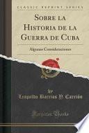 libro Sobre La Historia De La Guerra De Cuba