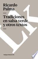 libro Tradiciones En Salsa Verde Y Otros Textos