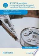 libro Desarrollo De Componentes Software Para El Manejo De Dispositivos. Ifct0609