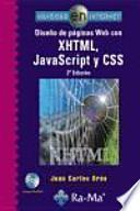 libro Diseño De Páginas Web Con Xhtml, Javascript Y Css