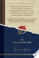 libro Catálogo De Las Lenguas De Las Naciones Conocidas, Y Numeración, Division, Y Clases De Estas Según La Diversidad De Sus Idiomas Y Dialectos, Vol. 5