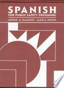 libro Spanish For Public Safety Personnel