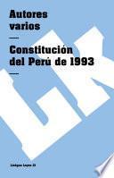 libro Constitución Del Perú De 1993