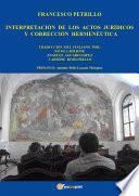 libro Interpretación De Los Actos Jurídicos Y Corrección