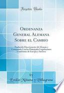 libro Ordenanza General Alemana Sobre El Cambio