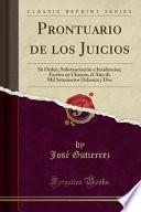libro Prontuario De Los Juicios