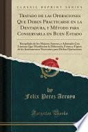libro Tratado De Las Operaciones Que Deben Practicarse En La Dentadura, Y Método Para Conservarla En Buen Estado