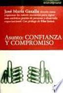 libro Asunto: Confianza Y Compromiso