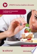 libro Cocina Creativa O De Autor. Hotr0408