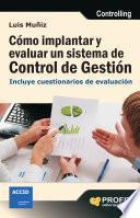 libro Cómo Implantar Y Evaluar Un Sistema De Control De Gestión