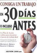 libro Consiga Un Trabajo En 30 Dias O Incluso Antes