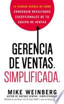 libro Gerencia De Ventas. Simplificada.