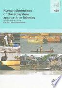libro Human Dimensions Of The Ecosystem Approach To Fisheries