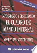 libro Implantando Y Gestionando El Cuadro De Mando Integral