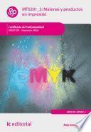 libro Materias Y Productos En Impresión. Argi0109