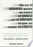 libro No Es El Grande Quien Se Come Al Chico__ Es El Rápido El Que Se Come Al Lento