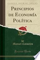 libro Principios De Economía Política (classic Reprint)