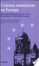 libro Uniones Monetarias En Europa
